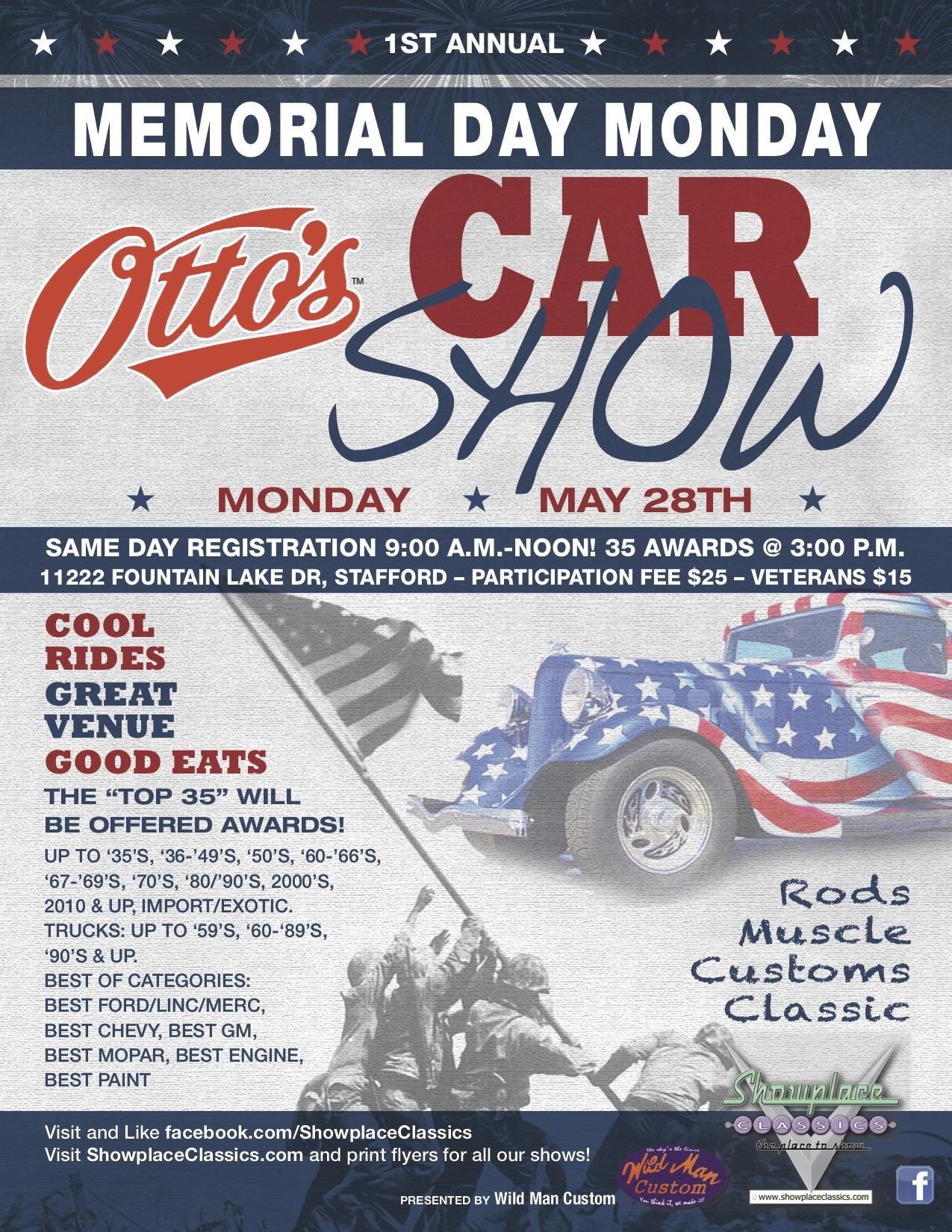 Maryland Car Registration >> Memorial Day Car Show @Otto's BBQ | Car Show Radar
