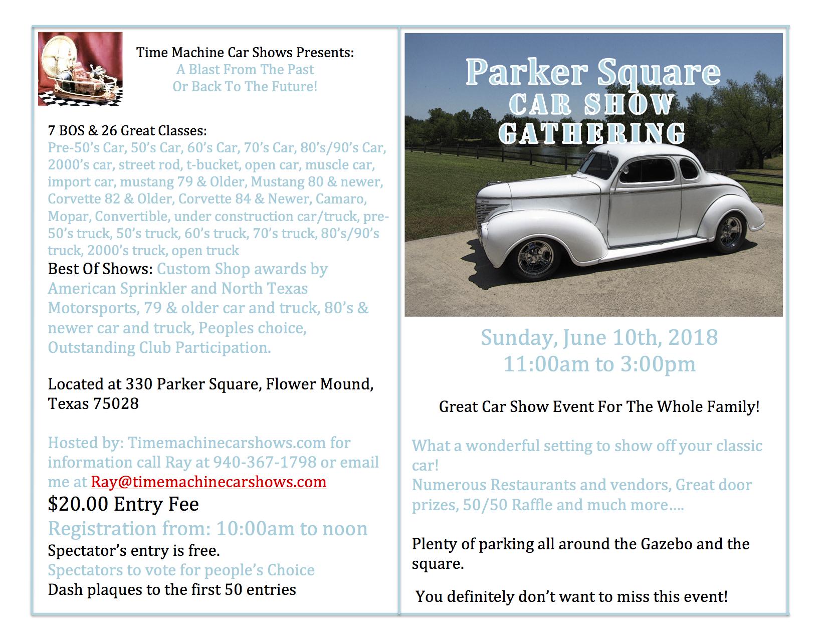 Parker Square Car & Truck Show | Car Show Radar